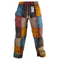 Paisley Patch Straight Trousers