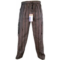 Striped Brown Cargo Trouser