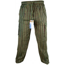 Striped Green Cargo Trouser