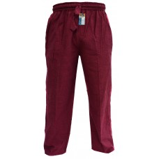 Hemp Maroon Cargo Pants