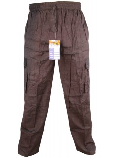 Plain Brown Cargo Trouser