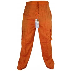 Plain Orange Cargo Trouser
