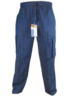 Striped Purple Cargo Trouser