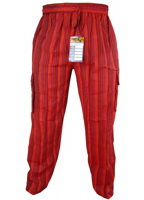 Striped Red Cargo Trouser