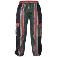 Shyama Plain Printed Trouser Green