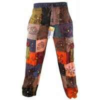 Light Patchwork Straight Trouser