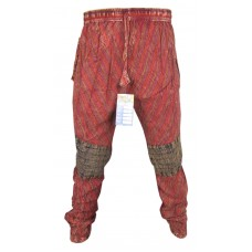 Tapered Patch Trousers Red