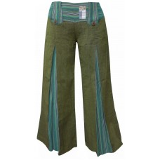 Vintage Flared  Green Trousers