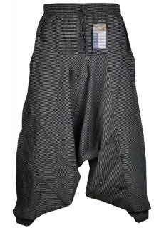 Pin Stripe Black Mens Harem Pants