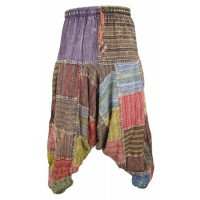 Crus Patchwork Mens Harem Pants