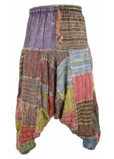 Thin Stitch Patchwork Mens Harem Pants