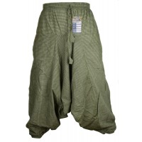 Pin Stripe Green Mens Harem Pants