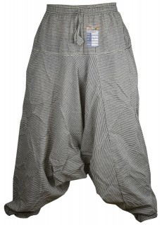Pin Stripe Grey Mens Harem Pants