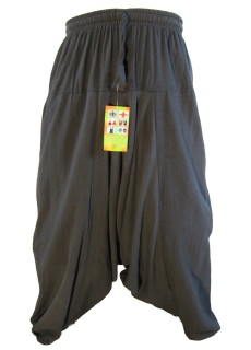 Hemp Black Mens Harem Pants