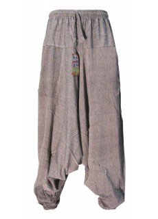 Cotton Light Grey Mens Harem Pants