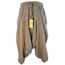 Hemp Light Grey Mens Harem Pants