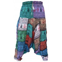 OM Light Patchwork Mens Harem Pants