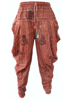 Samurai Pants Orange Stonewashed
