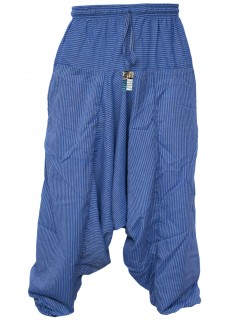 Pin Stripe Blue Mens Harem Pants
