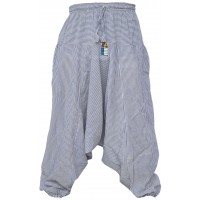 Pin Stripe Light Blue Mens Harem Pants