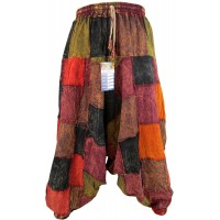 Patchwork Stonewashed Mens Harem Pants