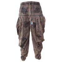 Samurai Pants Brown Stonewashed