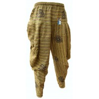 Samurai Pants Lime Green Stonewashed