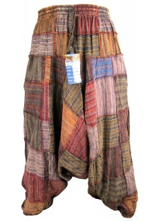 Light Patchwork Mens Harem Pants