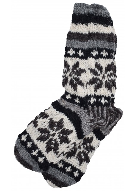 Fleece Lined Woolen Socks C