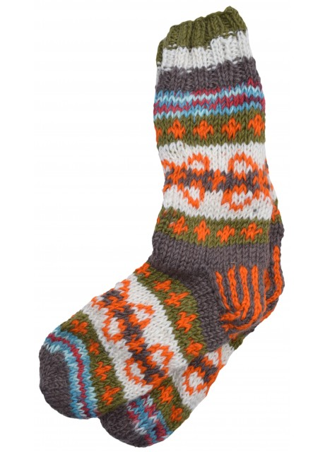 Fleece Lined Woolen Socks D