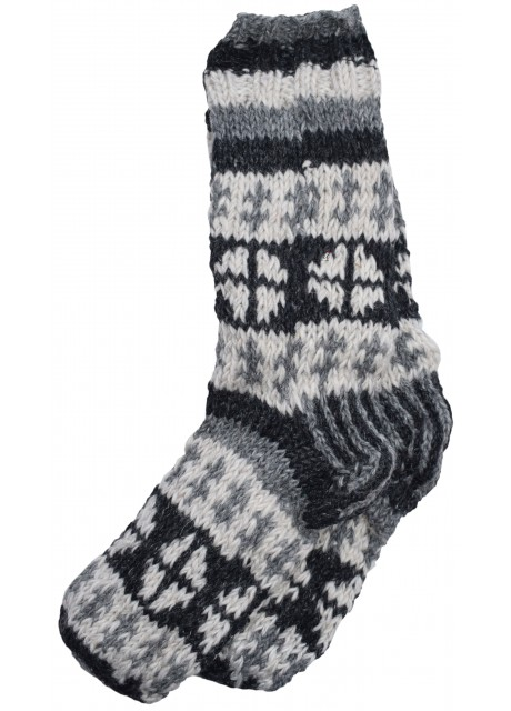 Fleece Lined Woolen Socks F