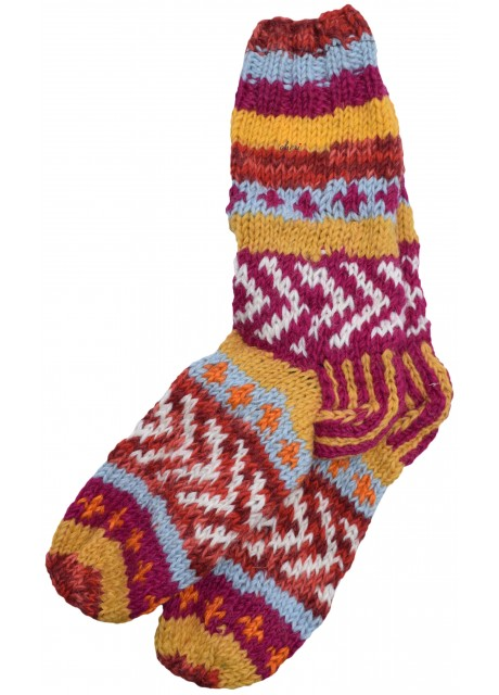 Fleece Lined Woolen Socks H